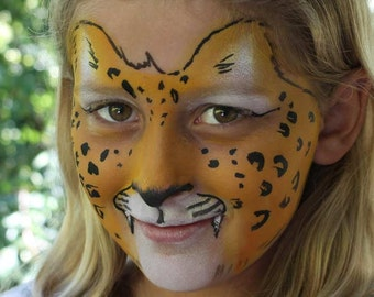 How to Paint a Leopard Face Paint Step by Step Tutorial PDF file