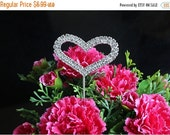 ON SALE 1  Cake Topper Two ROWS Heart Diamante Rhinestone Crystal Letter Cake Toppers For Wedding Party Decoration