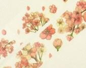 Japanese Washi Masking Tape - Peach Blossom - 25mm Wide - 7.6 yards