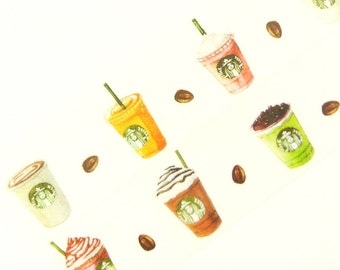 Starbucks - Japanese Washi Masking Tape - 30mm Wide - 7.6 yards