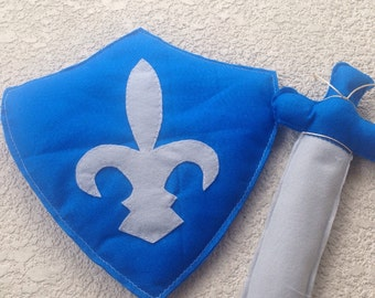 KNIGHT SHIELD and SWORD Set/pretend/ party supplies