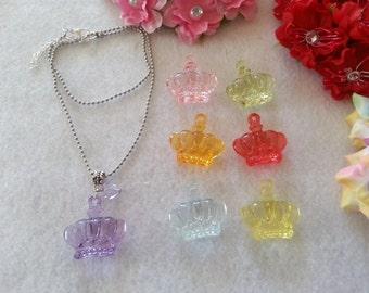 10 Crown Necklaces Party Favors.