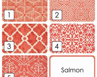 CURTAINS Pair of Salmon Pink Drapery Panels. 25 and 50 width. 63 84 90 96 108 Length. Salmon Red Window Treatments.