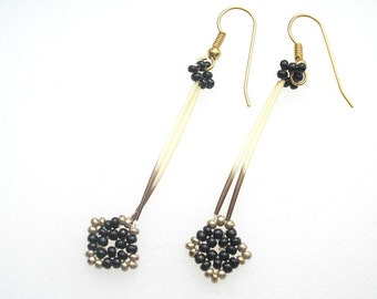 Vintage Porcupine Quill Earrings from the Sixties