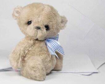 Collectible teddy bear Zopih 17 cm. Artist Bear OOAK
