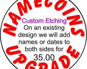 Adding names or dates to a standard design