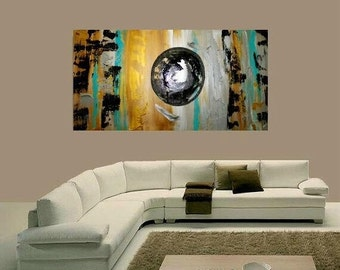 """Oil textured painting Abstract Original  48"""" palette knife oil painting by Nicolette Vaughan Horner"""