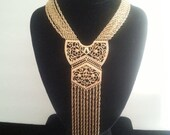 NOW ON SALE Vintage Bib Necklace ** 1960's Collectible ** Mid Century Accessory ** Mad Men Mod ** Old Hollywood Glamour