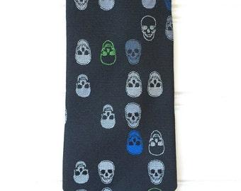 Mens Tie - Vintage Necktie - Skull Design - Ties for Men - Skinny Tie Men - Mens Necktie for Men - Novelty Tie
