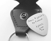 Personalized guitar pick - Father's Day - Groomsmen Gift - Groom Gift - Anniversary Gift - S. Steel - See all photos!