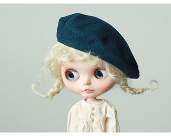 Miss yo 2016 Summer & Autumn - Beret Hat for Blythe doll - dress / outfit - Bluey Green