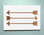 Wood Sign 8x12 Stained Arrows no vinyl