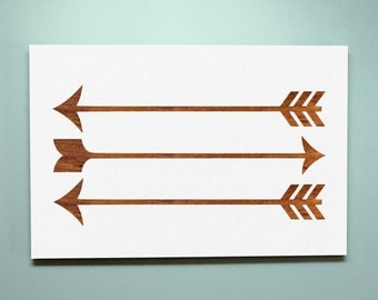 Wood Sign 8x12 Stained Arrows
