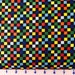 TEAM THOMAS~RAINBOW multicolor and black checks  by the 1/2 yard Quilting Treasures fabric-22907-x