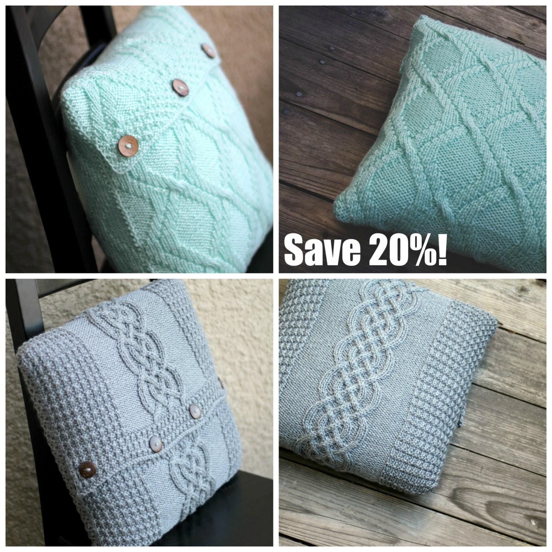 Knitting Pillow Case Pattern : Knitting pattern knit tutorial pillow