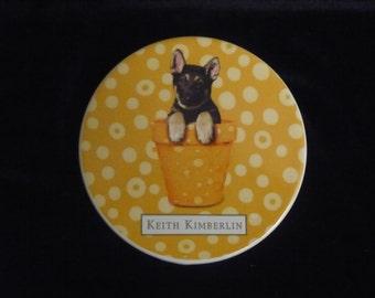 German Shepherd puppy coasters
