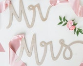 Mr and Mrs chair sign | wedding chair sign | wedding signs