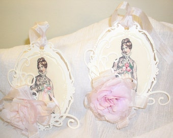 1 Set of Two Jane Austen Inspired Gift Tags in Homage to Anne Elliot of Persuasion