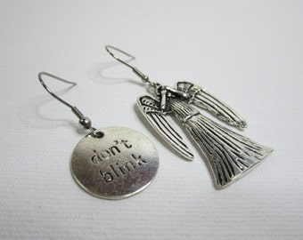 Weeping Angel and Don't Blink Earrings