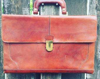 Vintage Ponte Vecchio, Italian Leather, Men's Messenger bag , Satchel