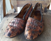 FLORENCE     ///    Leather Woven Flats