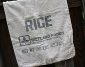 Rice Bag Cotton Muslin Riceland Foods 100 lb