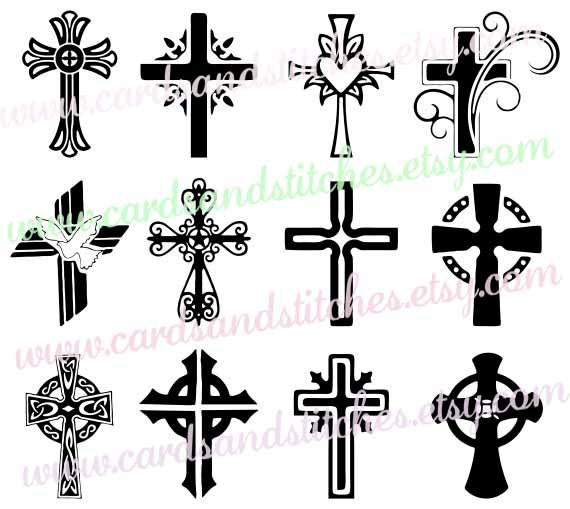 crosses svg decorative crosses digital cutting file cricut svg file vector file - Decorative Cross