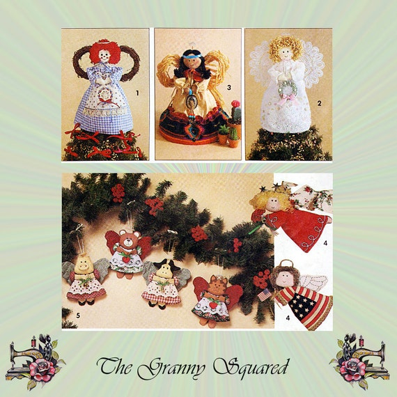 Cat Angel Christmas Tree Topper: Items Similar To Country Angel Pattern, Christmas