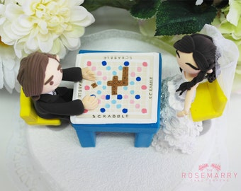 Custom Wedding Cake Topper - Play Scrabbles!!