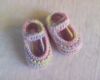 Mary Jane Booties - Size 0 - 3 Months