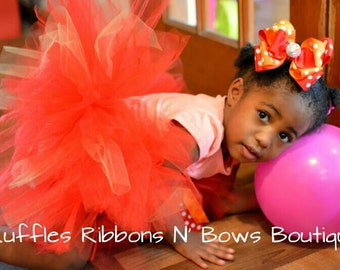 Elmo Tutu Set, Childrens' Clothing, Girls' Clothing, Skirt, Elmo Tutu Set, Baby Tutu,  Halloween Tutu, Girls' Dress
