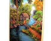 "Wooden Plaque 7""x 5"" ready to hang  . Five artwork to choose. Cuban Art"