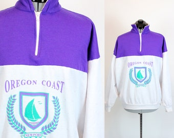Vintage Oregon Coast Sweatshirt Medium
