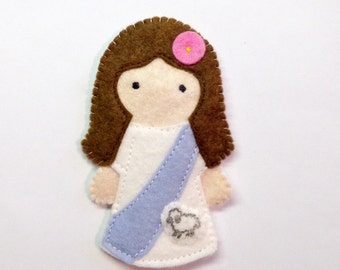 St. Agnes - Catholic Saint Toy - Finger Puppet
