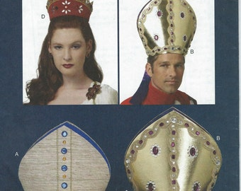 UNCUT Making History Butterick 5441 Misses'/Men's Bishop Hat and Headpiece