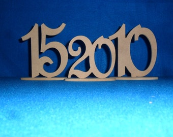 "Wedding Table Numbers  set 1-40 with 1/4""  on Oval Base On Sale MDF / WOOD event wedding number - Wooden table numbers"