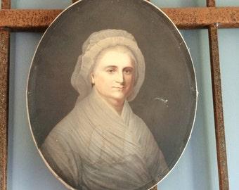 Beautiful Antique Art of Martha Washington from early 1900's