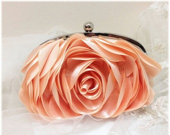Wedding clutch, bridesmaid clutch, blush bag, blush clutch, pink clutch, bridal evening bag, formal bag, formal clutch, pearl clutch