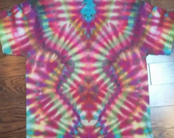 Psychedelic Tiedye T Shirt Adult Medium