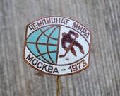 Vintage Soviet Russian enamel badge,pinback.