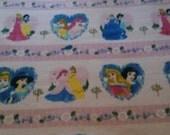 Disney Princess Fleece blanket with crocheted edge