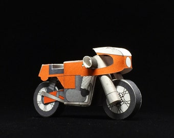 Laverda SFC750 - POSTCARD + PAPERCRAFT model in one! Perfect Holiday Gift for a Moto Lover!