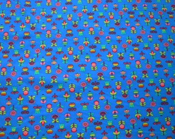 Maille french flowers bleu - 50 cm