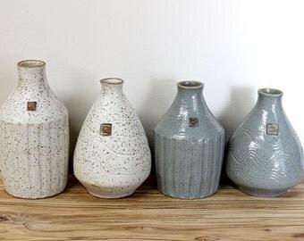Ceramic sake bottle, Ceramic Pottery Vase, Handmade vase, Small Vase, Handmade Sake Bottle,