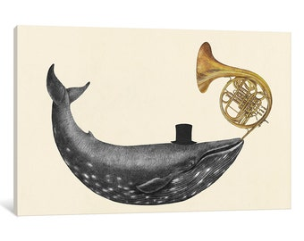 iCanvas Whale Song Gallery Wrapped Canvas Art Print by Terry Fan