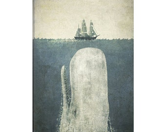 iCanvas White Whale Gallery Wrapped Canvas Art Print by Terry Fan