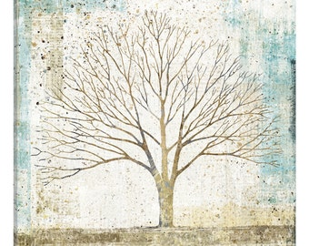 iCanvas Solitary Tree Collage Gallery Wrapped Canvas Art Print by All That Glitters