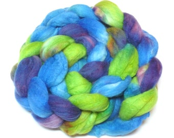 BFL Silk Spinning Fiber, Roving, Top - One of a kind Colorway 002