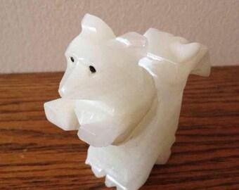 Onyx Squirrel Figurine~ Vintage Knick Knack~ Alabaster Marble
