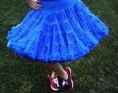 Vintage Sam's Crinoline, Blue, VERY Full, Petticoat, Can Can